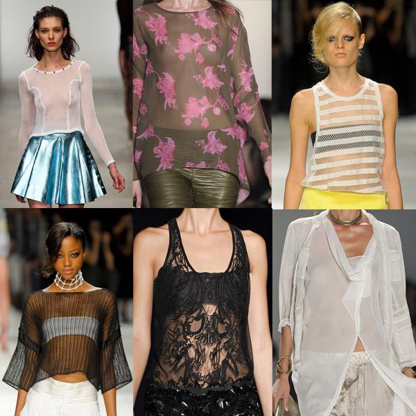 Blusas transparentes