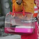 bolsa trasparente fashion