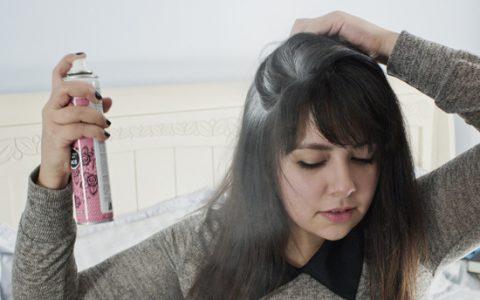 como usar shampoo en seco