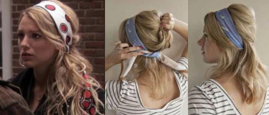 Cómo usar mascadas en la cabeza