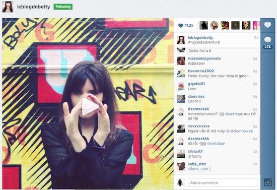 Videos en Instagram y la moda
