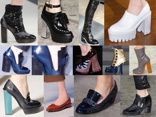Zapatos toscos