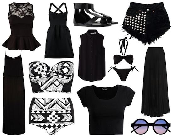 Como combinar ropa negra