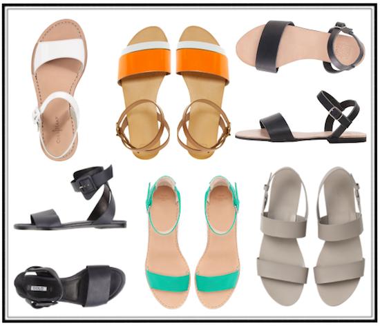 tendencia sandalias de tiras