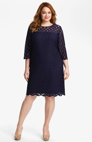 Vestidos tipo cocktail para chicas plus size for Fat girl wedding guest dress
