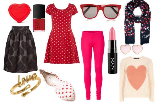 como usar rojo y rosa en san Valentin