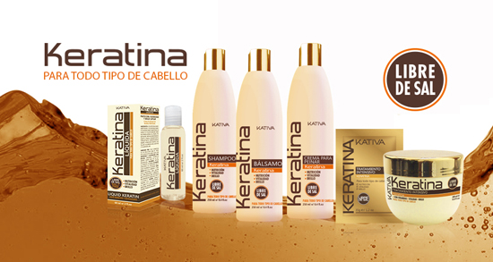 Shampoo con keratina KATIVA