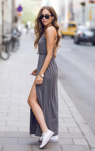 ¿Cómo usar vestidos largos?