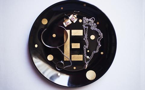 DIY: Plato decorado para joyería