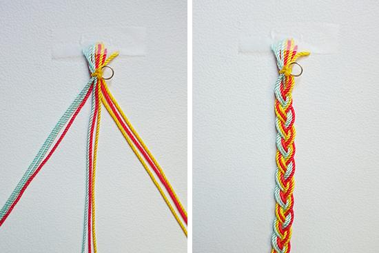 Cómo hacer una pulsera de trenza con hilo paso a paso