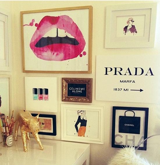 5 elementos para hacer m s glamoroso tu espacio de trabajo for Fashion designer themed bedroom