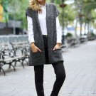 Básicos: Suéter largo abierto
