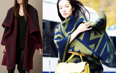 tendencia abrigo estilo frazada
