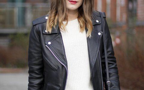 Básicos: Cómo usar una chaqueta de cuero de mujer