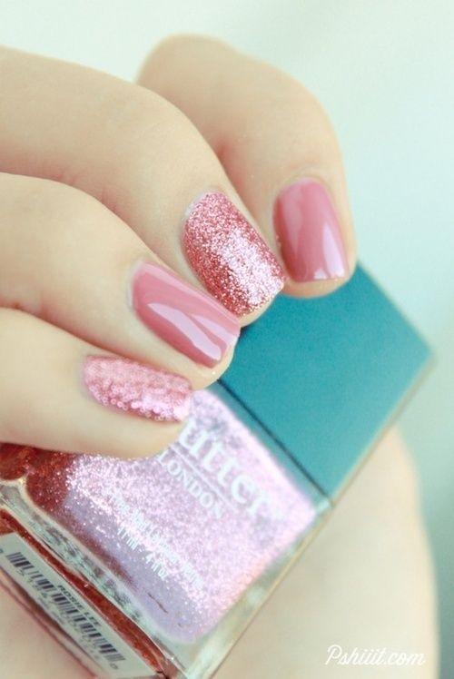 Inspiración Uñas Con Glitter Para Año Nuevo Fashion Blog México