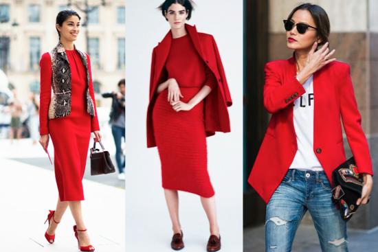como usar color rojo en la ropa