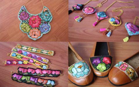 Lolkin Arte Textil: Accesorios contemporáneos con bordados yucatecos