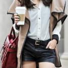 Básicos: Shorts de piel o faux leather en color negro