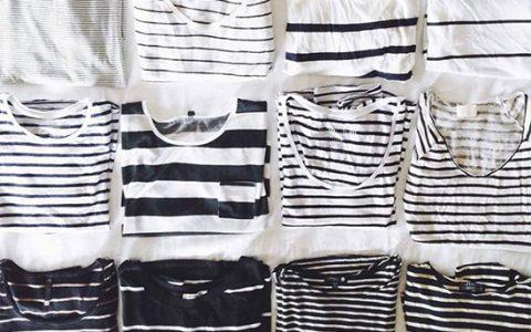 Ideas de atuendos de cómo combinar camisetas de rayas