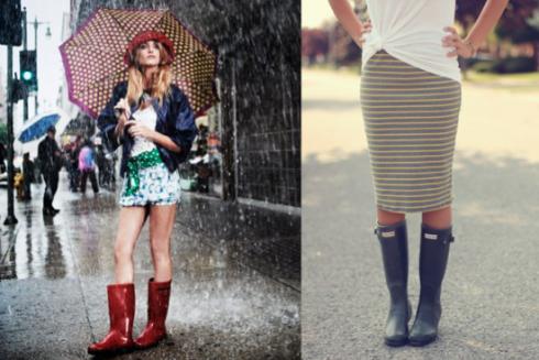25 ideas de cómo usar botas para la lluvia