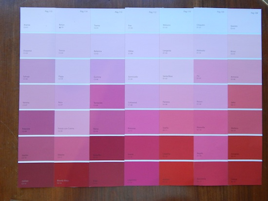 diy calendario de colores