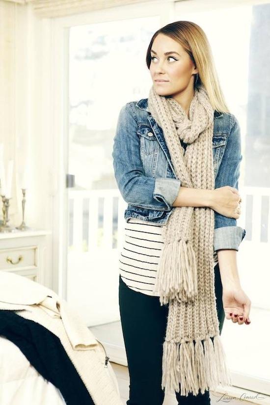 cómo usar bufandas tejidas