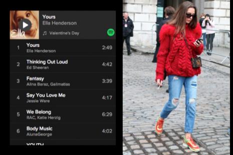 Playlist de música para San Valentín