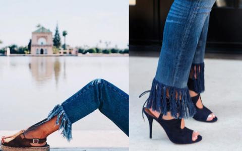 tendencia jeans deshilachados