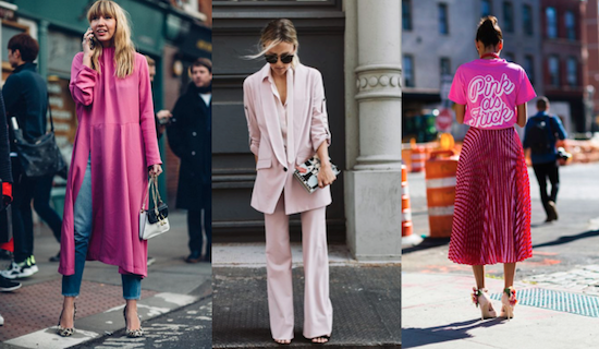 tendencia color rosa