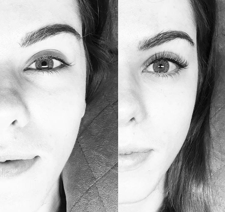 Antes y después: 5 Imágenes reales de extensiones de pestañas de Coco Wax Studio