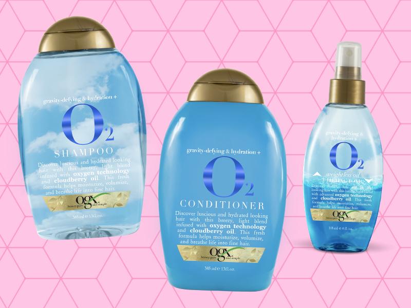 Shampoo, acondicionador y aceite O2 de OGX