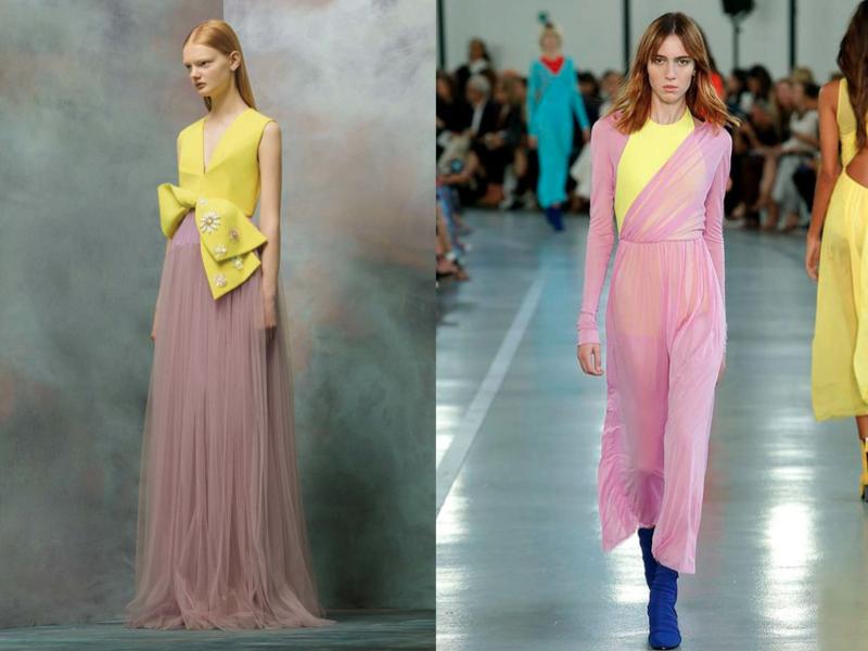 como combinar rosa y amarillo en ropa