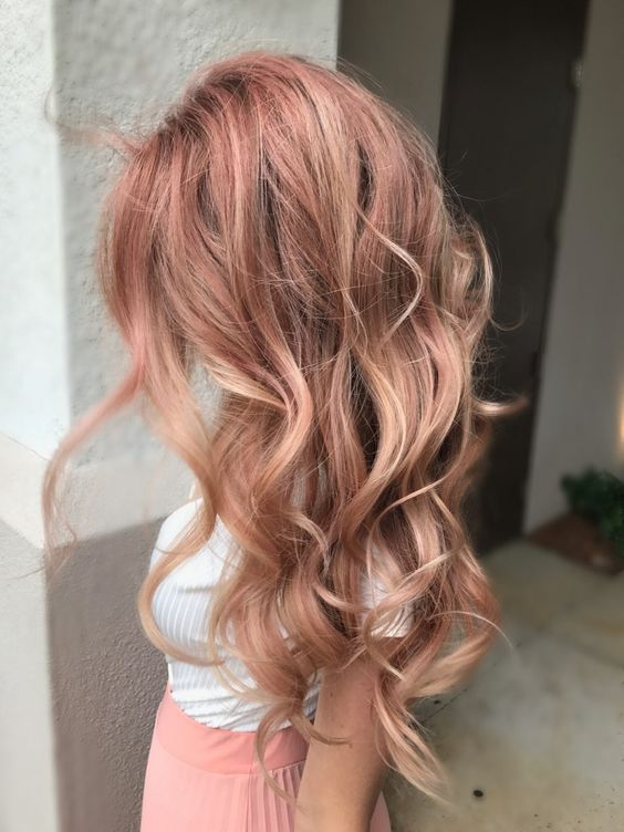 endencia-en cabello- Rose-Gold
