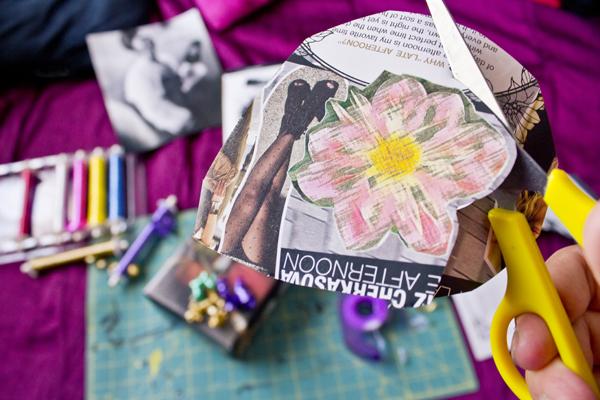 Foto de DIY Envoltura de regalo con revista de moda