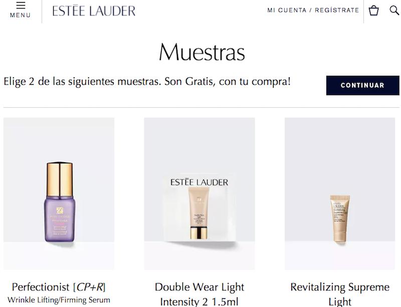 tiendas online de belleza con muestras gratis